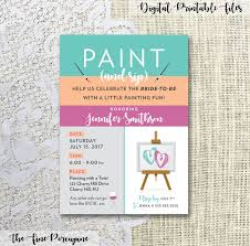 Wine And Design Bachelorette Party Paint And Sip Party Invites Wine And Painting Party Canvas
