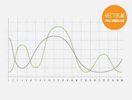 Free Curve Chart Infographics Vector