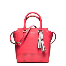 Lyst - Coach Legacy Perforated Mini Tanner Bag in Red