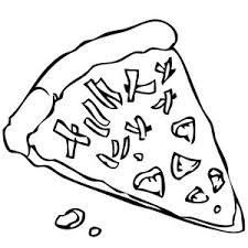 Small Picture Pizza Coloring Page Printable Vectorstock adult