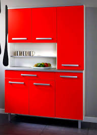 Red Lacquer Kitchen Cabinets Bathroom Personable Bold Red Lacquer Kitchen Cabinet For Small