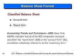 Classified Balance Sheet In Good Form Rome Fontanacountryinn Com