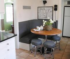 contemporary kitchen booths   Built In Kitchen Booth With Storage Drawers  Below