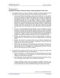enduring love essay notes enduring love essay gcse english marked by teachers com