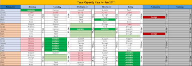 Excel Team Schedule Template - April.onthemarch.co