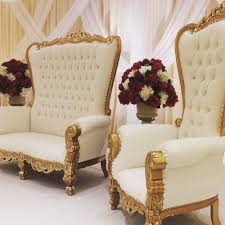 photo of be seated overland park ks united states king queen king queen throne chairs