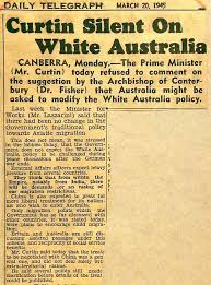 racist illustrated sovereign union first nations  daily telegraph 20 1945 national archives of