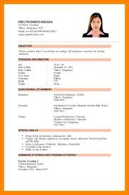 Resume For Teachers Extraordinary Example Resume For No Experience Applicant Sampleofapplicant