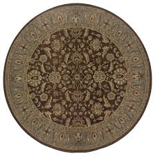 genesis 952q1 brown blue oriental area rug 6 round traditional area rugs by rugmethod