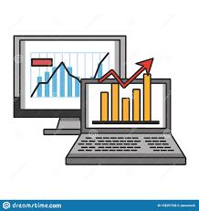 Statistics Symbols Chart Online Stock Market Investment Symbols Stock Vector