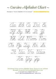 Capital And Lowercase Cursive Letters Chart Lined Uppercase Lowercase Cursive Alphabet Charts In Pdf