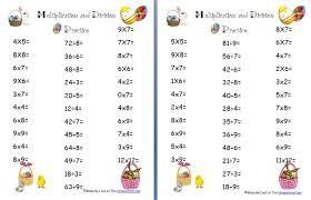 free easter multiplication and division worksheets homeschool den ...