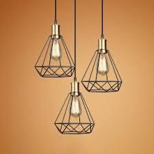 dining table diamond cage pendant light