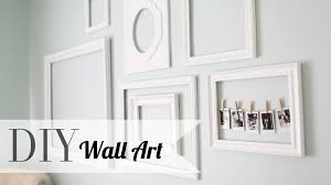 empty picture frames as wall art