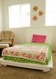 ana white  white twin platform bed  diy projects