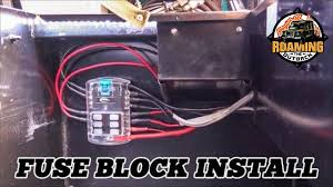 accessory fuse block and cable install in a 4wd how to add 12v accessory