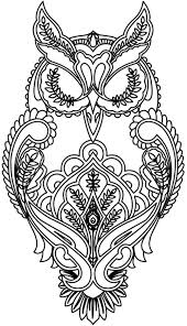 Small Picture Owl Free Printable Adult Coloring Pages Pinteres