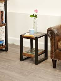 sditch rustic low lamp table side