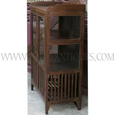 old thai teak kitchen cabinet afe with glass doors