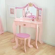 princess wooden vanity stool kidkraft kids tropical vanity table