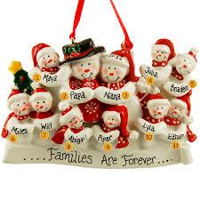 Grandparents with 9 Grandkids Ornaments