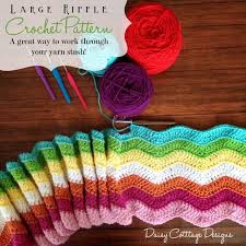 Ripple Afghan Patterns Gorgeous Large Ripple Afghan Crochet Pattern Daisy Cottage Designs