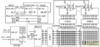dot matrix led display circuit diagram dot image led display circuit diagram the wiring diagram on dot matrix led display circuit diagram