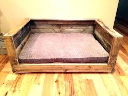 diy pallet dog bed plans wooden frame wood construction beds rustic beautiful large wooden dog bed