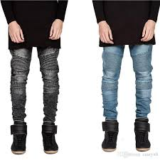 moto pants mens. 2017 jeans for men hi street mens ripped rider biker motorcycle slim fit washed black grey blue moto denim pants joggers skinny from crazyxb, n