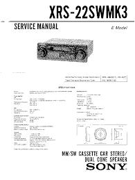 sony cdx gt22w gt120 gt220 service manual sony xrc 290rds sony