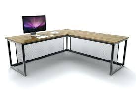 industrial corner desk oak and steel ltd in l shaped prepare style corner wood desk