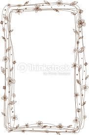 frame design. Vector Flower Frame Design On White Background : Art