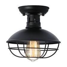 kingso vintage retro metal cage pendant lighting ceiling light hanging lamp black