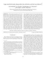 Round Bale Weight Chart Pdf Large Round Bale Feeder Design Affects Hay Utilization