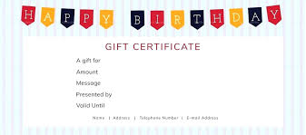 birthday gift certificate template simple happy word free templ gift certificate template