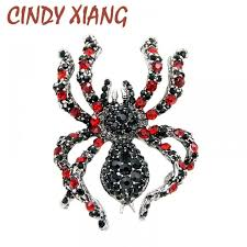 <b>CINDY XIANG</b> Rhinestone Spider Brooches for Women Statement ...