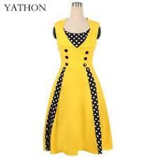 <b>Sisjuly</b> women vintage bodycon dress patchwork 1950s <b>polka dots</b> ...