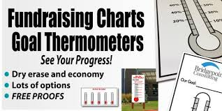 Goal Charts Goal Thermometers Fundraising Charts Same