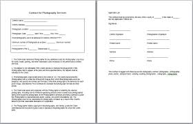 Photography Contract Template Word Austinroofing Us