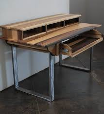 compact modern wood recording studio desk for composer by monkwood