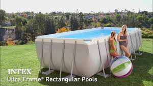 rectangle above ground swimming pool. Intex Ultra Frame Rectangular Above Ground Pool Rectangle Swimming R