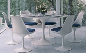 tulip table and chairs. Saarinen Dining Table Arabescato Marble Tulip And Chairs