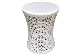 gray ceramic garden stool
