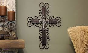 wall decor awesome large cross wall decor large cross wall