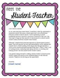 Student Teacher Introduction Letter To Parents Worksheets