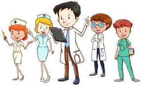 nurses cartoon pictures. Perfect Nurses Team Of Doctors And Nurses Standing On White Background With Nurses Cartoon Pictures C