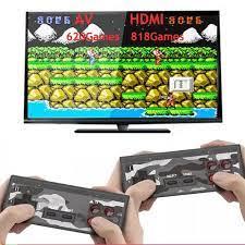 Bộ điều khiển trò chơi điện tử 4 nút máy chơi game cầm tay không dây mini  tích hợp 620 trò chơi 8 bit đầu ra AV - Tay Bấm Game -
