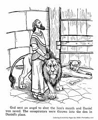Small Picture Daniel put into the Lions Den Old Testament Coloring Pages
