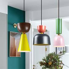 Designer Indoor Lighting Us 29 74 40 Off Modern Indoor Lamp Pendant Light Europe Colorful Macarons Led Indoor Lighting Restaurant Bar Decorative Light Fixture Ac110 265v On