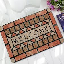 Cobblestone Rubber Mat Front Door Mats Welcome Home Outdoor Non ...